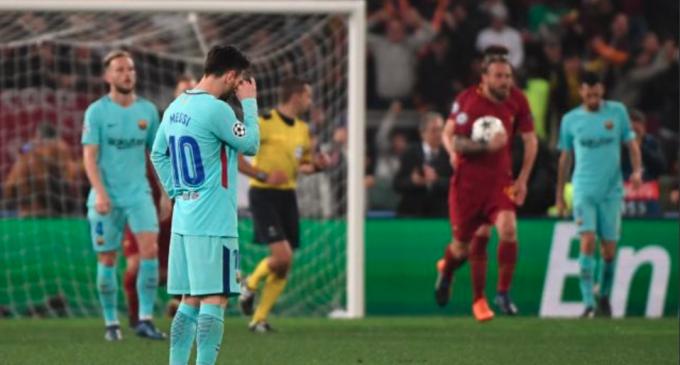 Roma sorprende, remonta, y elimina al Barcelona