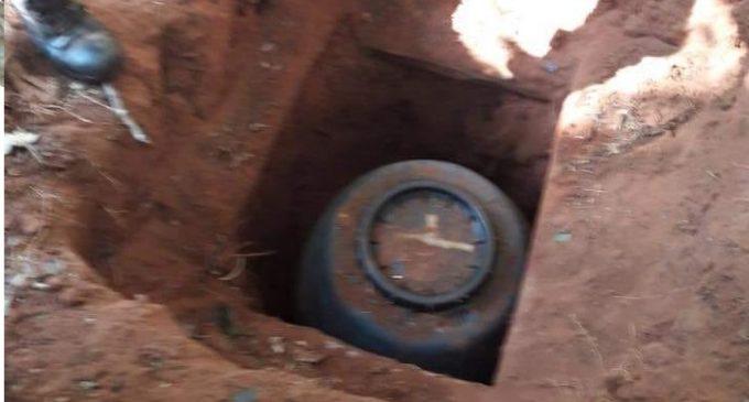 Encontraron evidencias del EPP escondidas bajo tierra