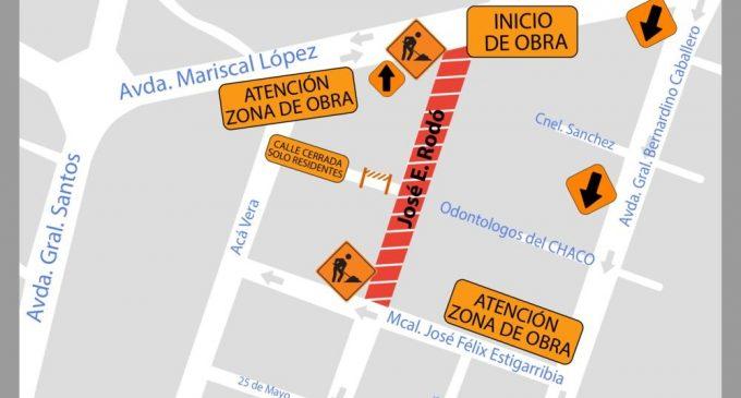 Mañana habrá desvíos en zona de Mariscal López por obras