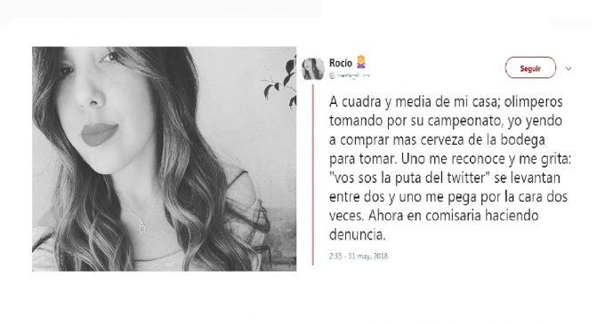 """Fanática cerrista denuncia agresión por parte de hinchas del Olimpia: """"¡Vos sos la p* del Twitter!"""""""