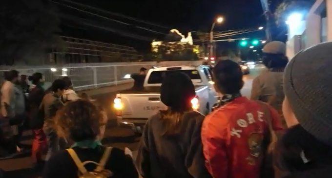 Atropellaron a un grupo de manifestantes pro aborto
