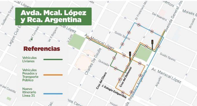 Desde hoy se elimina gira a la izquierda en Mariscal López y San Martín