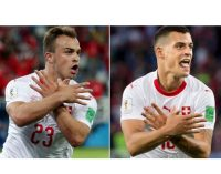 Xherdan Shaqiri y Granit Xhaka, de la guerra a los goles: la dura historia detrás de sus festejos en la victoria de Suiza