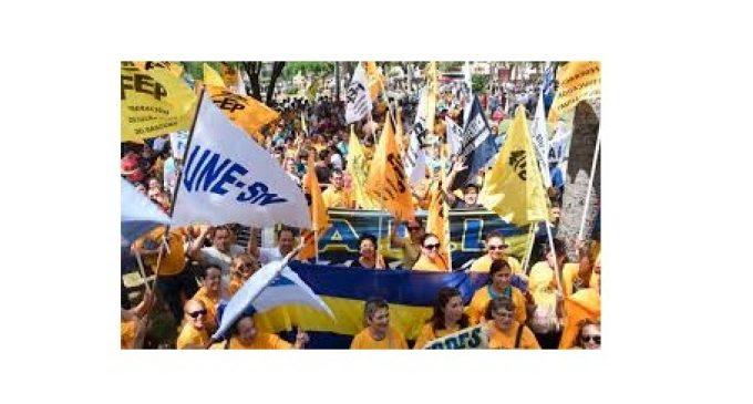 Sindicatos docentes se pliegan a movilización contra Ley de Pensiones del IPS