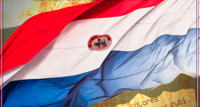 El león en la bandera paraguaya
