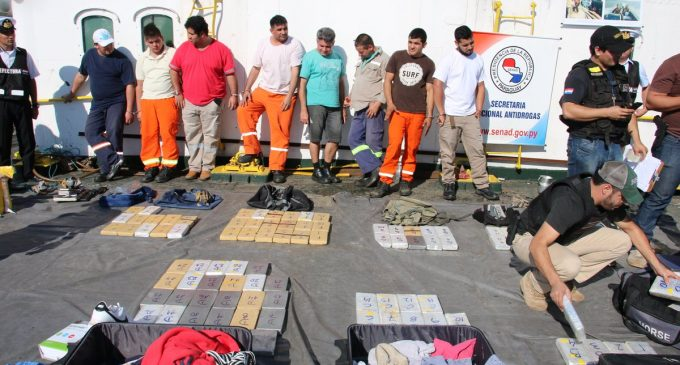Decomisan en Paraguay 151 kilogramos de cocaína para Uruguay
