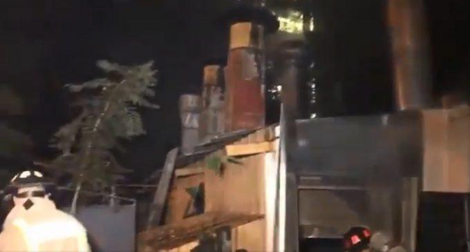 Incendio en local gastronómico de Asunción