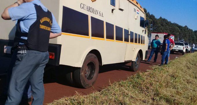 Asalto a Guardián: Delincuentes se habrían alzado con G. 1.000 millones