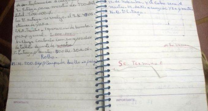 Encontraron una libreta del EML en Arroyito: Mencionan a estancieros, medios de prensa y a Urbieta