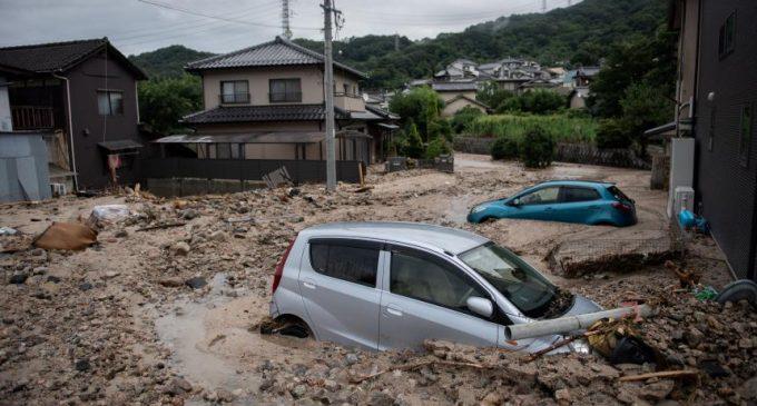 Sube a casi 180 el número de muertos por lluvias torrenciales en Japón