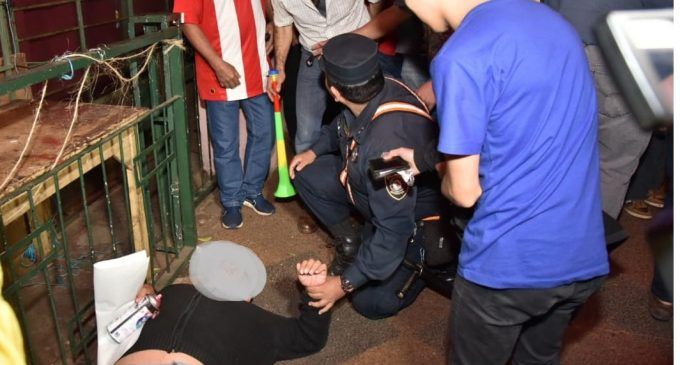 Identifican a barrabrava que encabezó patota contra manifestantes