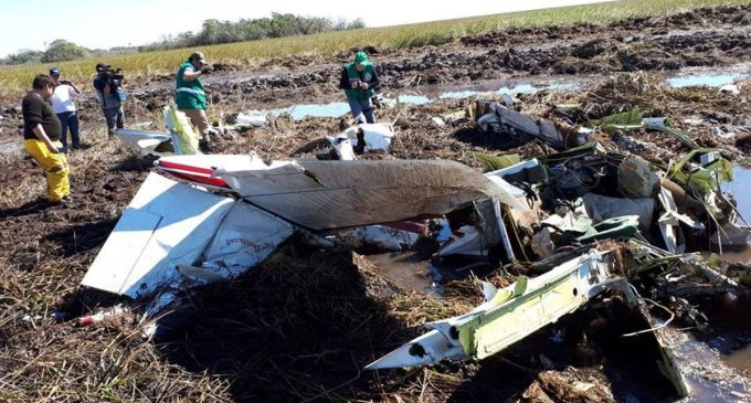 Retiraron restos de la avioneta del MAG