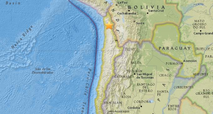Sismo de magnitud 5,3 sacudió el norte de Chile
