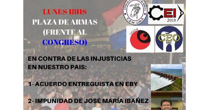 Estudiantes convocan a manifestación contra Notas Reversales e Ibáñez