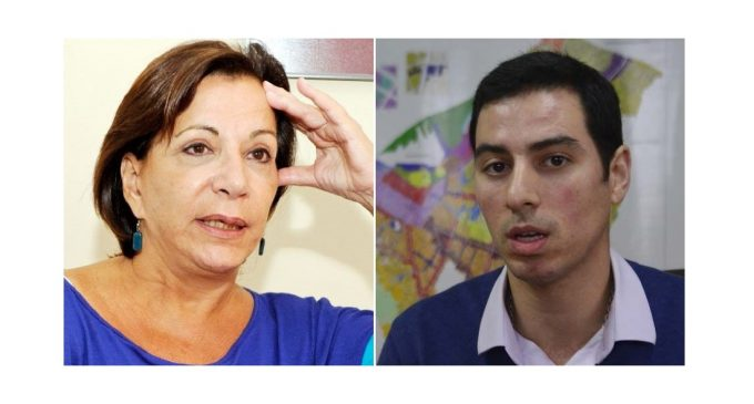"""""""Fue actuación chabacana"""": En plena sesión de Junta asuncena, concejala derrama agua a su colega"""