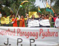 Jóvenes marchan por tierra, educación y trabajo