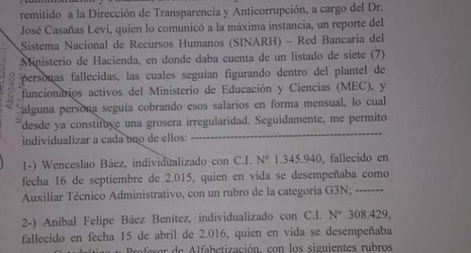 Solicitan reportes de intendentes implicados en planillerismo