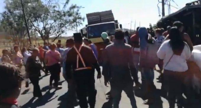 Manifestación de paseros causa agitación en zona Clorinda