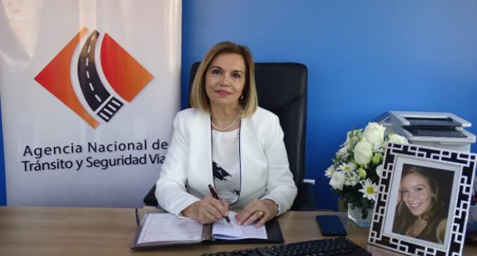 Nueva directora de Agencia Nacional de Tránsito priorizará la seguridad vial