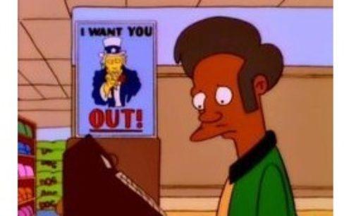 Eliminarán a Apu de la serie Los Simpson