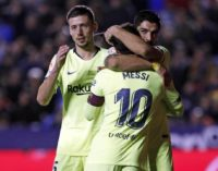 Barcelona goleó y sigue como único líder