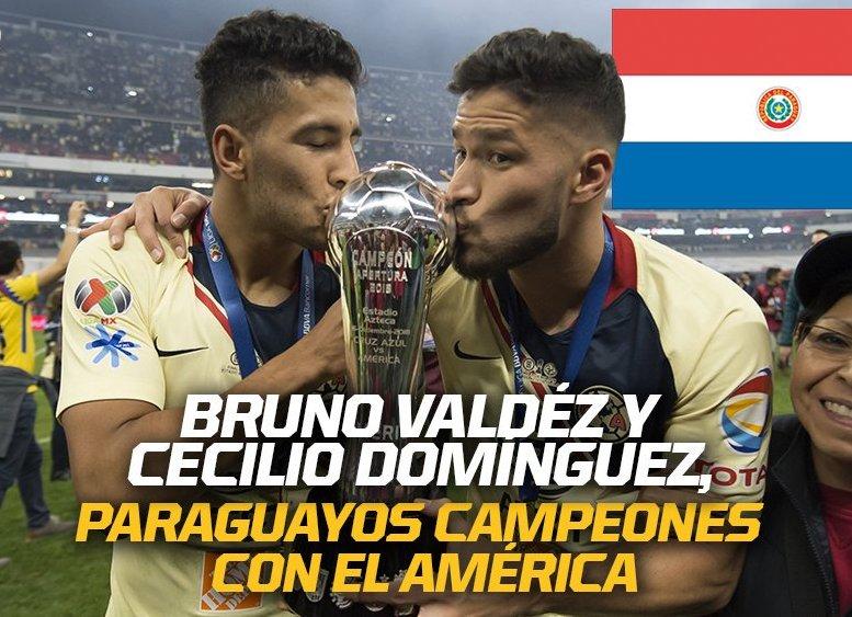 Cecilio y Bruno campeones con el América