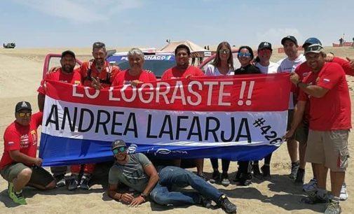 Dakar: Andrea Lafarja con récord histórico