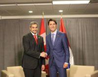 Abdo Benítez conversó sobre la crisis de Venezuela con el primer ministro canadiense