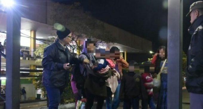 Rescatan a niños indígenas de zona de la Terminal