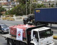 Venezuela recibió el primer cargamento de ayuda humanitaria de la Cruz Roja