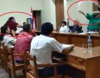 """Botellazos"" a lo Payo Cubas en Junta Municipal de San Pedro"