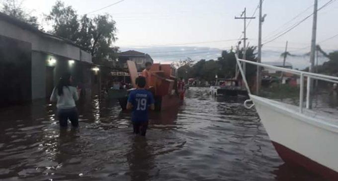 Sigue evacuación de zona inundada de Sajonia