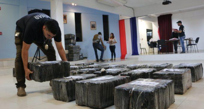 Más de una tonelada de marihuana cayó en Villeta