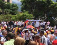 Venezolanos marcharon hoy luego del secuestro de Edgar Zambrano