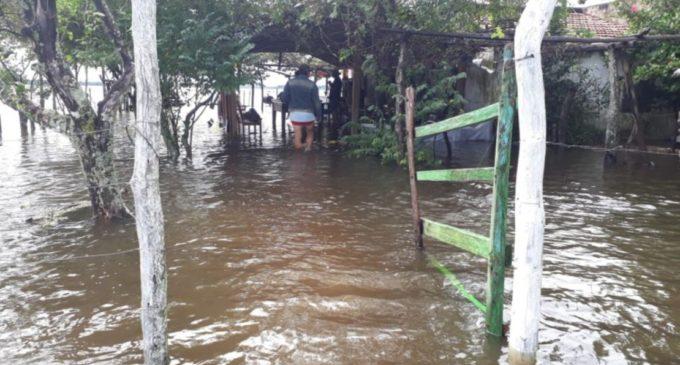 San Juan del Ñeembucú, otro distrito bajo agua