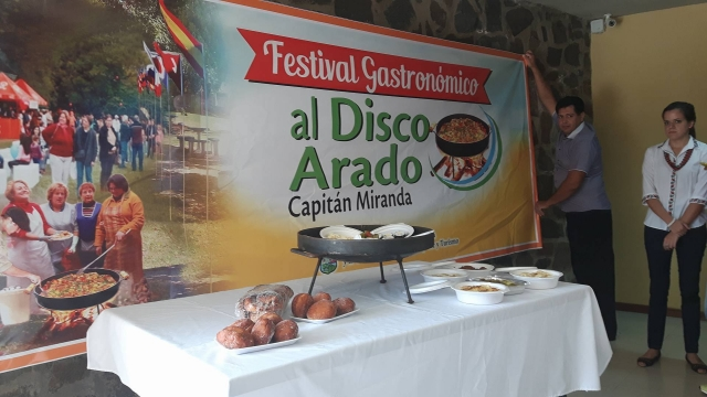 """Capitán Miranda prepara el """"Festival gastronómico al disco arado"""""""