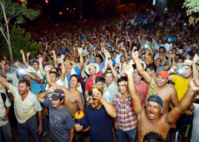 Campesinos se organizan en el norte para sumarse a las protestas pidiendo la destitución del presidente y vicepresidente de la República