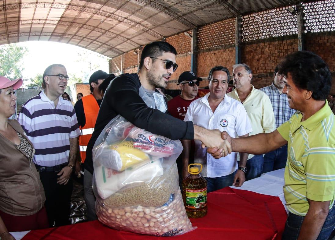 La SEN asiste a familias de Piquete Cué y Limpio
