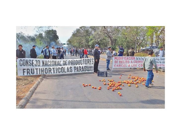 Productores de tomate cierran de nuevo Ruta 7 exigiendo respuestas del MAG