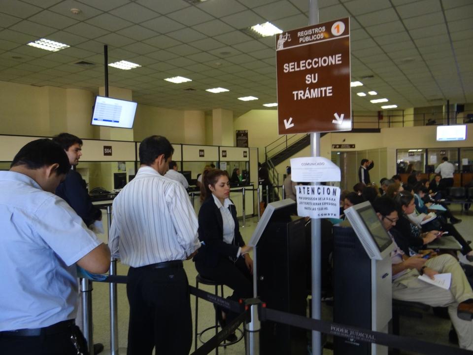 Oficina de Registros Públicos genera el 80% de ingresos para el Poder Judicial