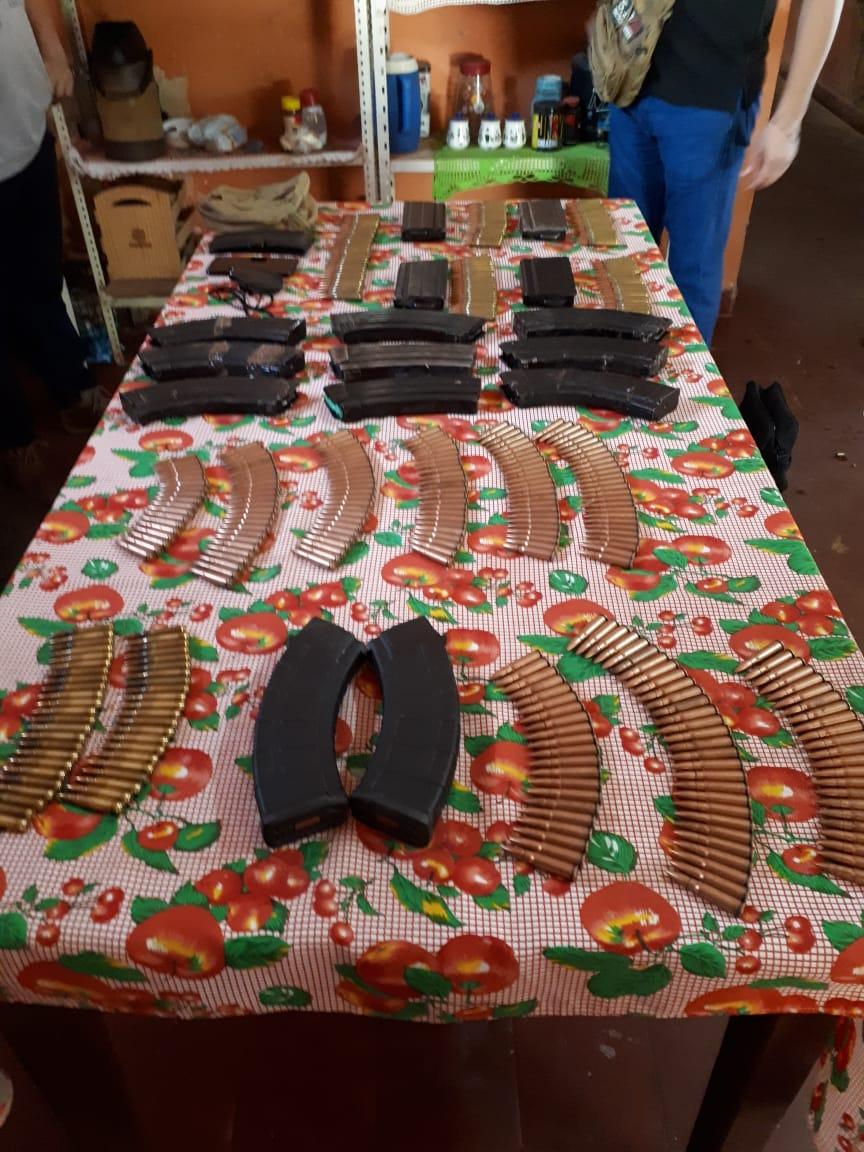Incautan cargadores y municiones de armas de grueso calibre en Concepción