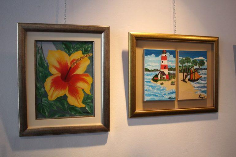 Clases de artes visuales en el Centro Paraguayo Japonés