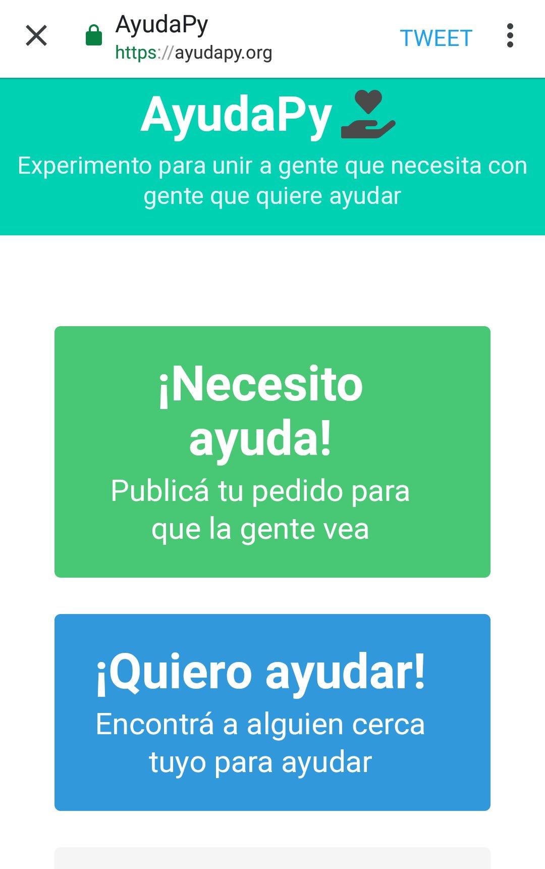 Lanzan plataforma para pedir ayuda y ayudar en Paraguay