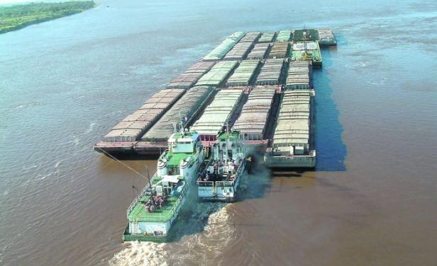 """Exportaciones de oleaginosas, aliviadas tras """"salto"""" del nivel del río Paraná"""
