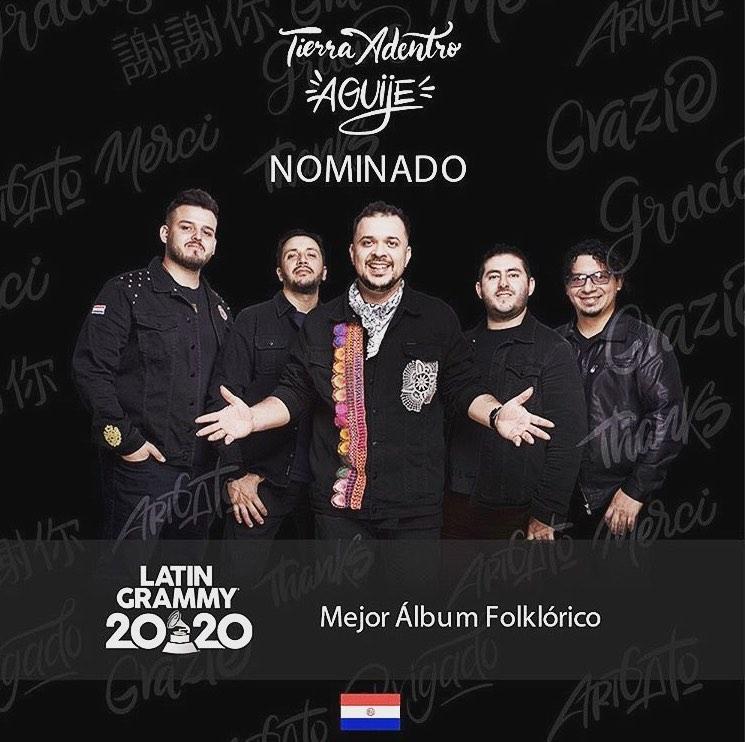 Grupo Tierra Adentro nominado a los premios Latin Grammy 2020