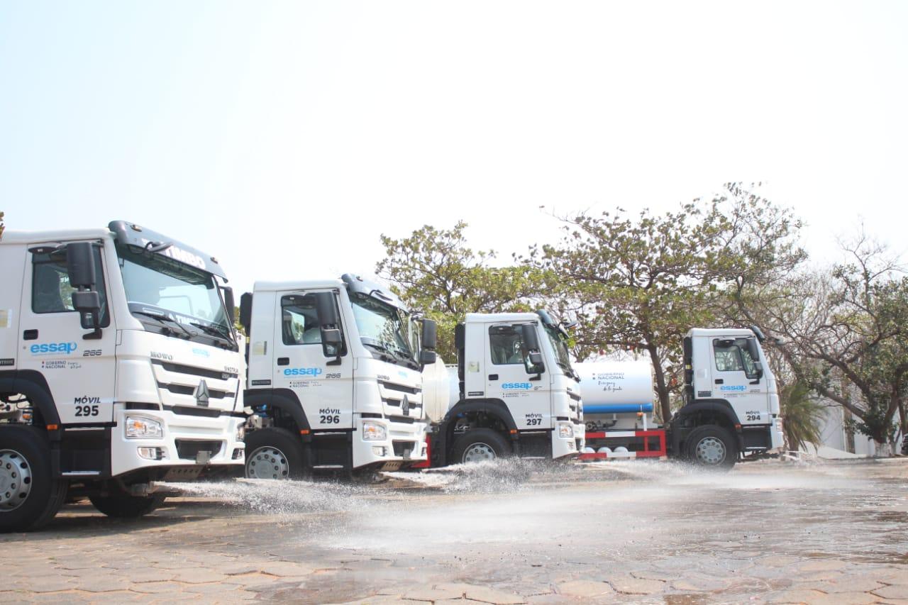 Essap adquiere camiones cisternas para abastecimiento de agua en zonas afectadas por incendios