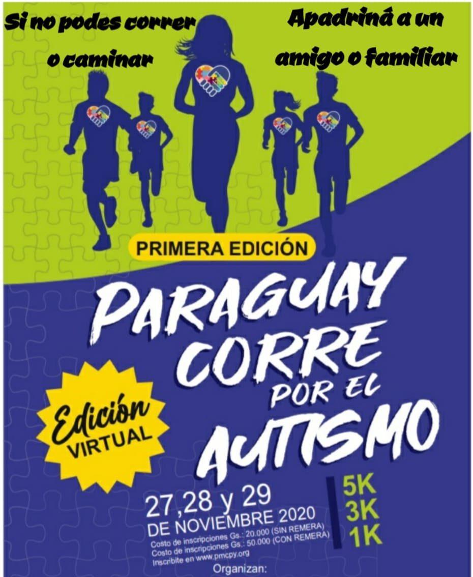 """Invitan a participar de la carrera virtual de """"Paraguay Corre por el Autismo"""" en su primera edición"""
