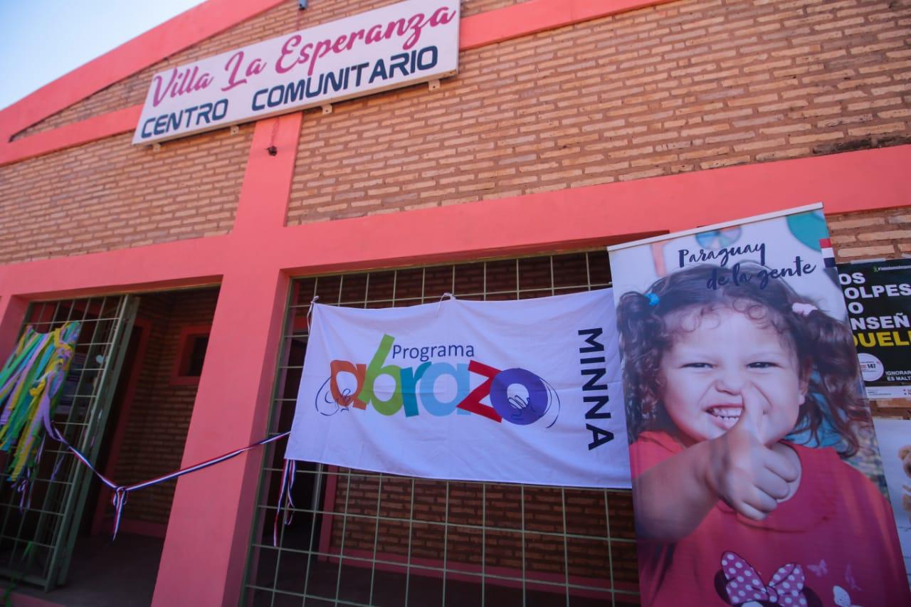 Inauguran nuevo centro del programa Abrazo en Itacurubí del Rosario