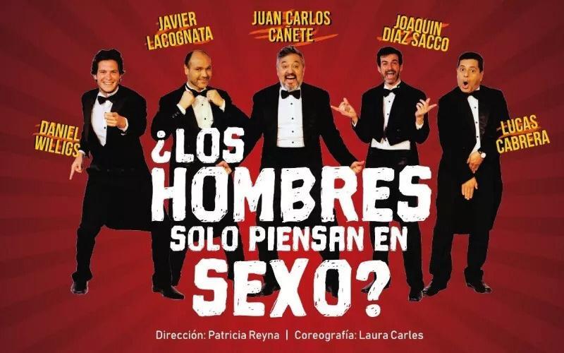 """Teatro: """"Los hombres solo piensan en sexo"""""""