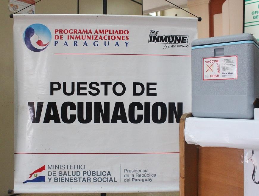 COVID-19: Asunción con 11 vacunatorios de los 63 disponibles en el país